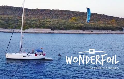 Be Wonderfoil in Kroatien beim segeln und Hydrofoilen