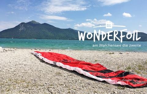 Be Wonderfoil an der Zwergerlinsel am Walchensee