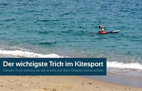 Der wichtigste Trick beim Kitesurfen, der Bodydrag