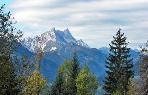 Ein letzter Blick auf den Koschutnikturm – Alternativtour Etappe 8 und 9