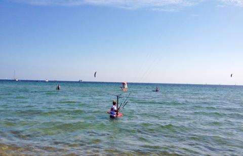 Los gehts zum ersten Foilrennen beim Kitesurfworldcup auf Fehmarn 2016