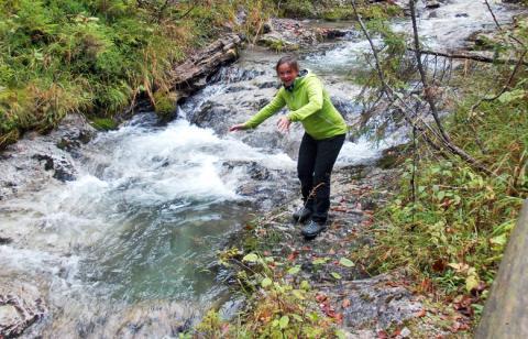 Fluss durch die Kubizklamm bei Bad Eisenkappel – Etappe 7 Panoramaweg Südalpen