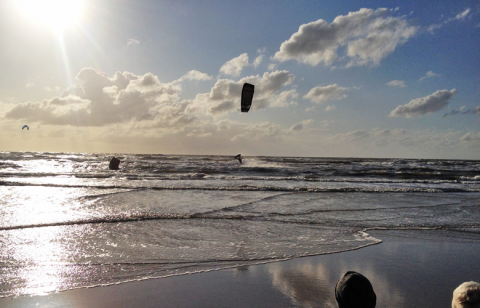 Freestyle Action beim Kitesurfworldcup in St Peter Ording