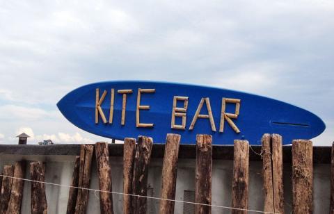 Die Kite Bar am Campingplatz Tenuta Primero in Grado, Italien