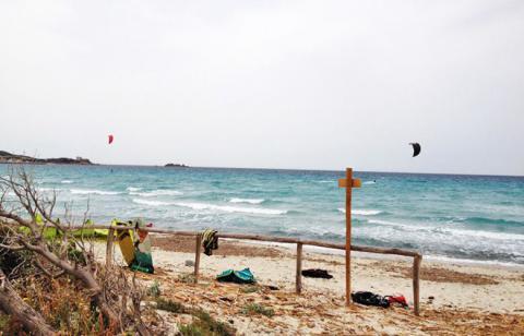 Kitespot Campulongu bei Wind