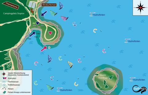 Kitespot Beschreibung Premantura Kroatien - Sabrinita Einfach auffallen