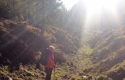 Los gehts in die 3te Etappe des Panoramaweg Südalpben