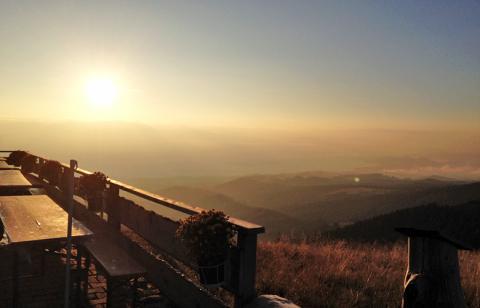 Sonnenaufgang Wolfsberger Hütte – Etappe 15 Panoramaweg Südalpen
