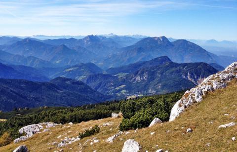 Ein Blick über den ersten Teil des Panoramweg Südalpen