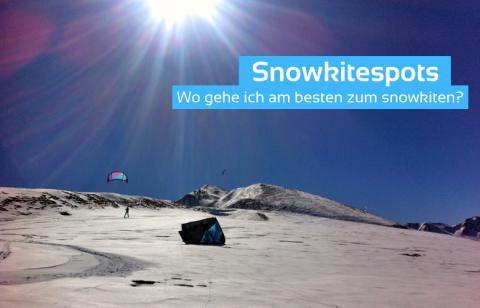 Snowkitespots – Wo gehe ich am besten zum Snowkiten?