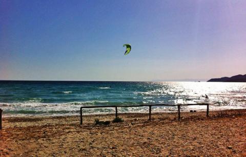 Neuer Kitespot Campulongu mit wenig Wind